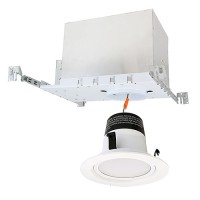 "4"" LED recessed lighting IC AT new construction housing 2700K white LED retrofit trim kit"