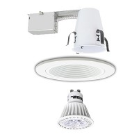 "4"" LED Recessed lighitng Gu10 MR16 remodel white trim kit dimmable"
