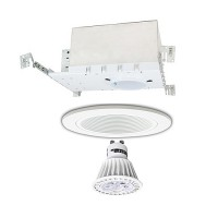 "3"" LED Recessed lighitng Gu10 MR16 new construction IC white trim kit dimmable"