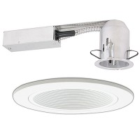 "2"" Recessed remodel white trim kit"