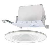 "3"" Low voltage recessed new construction white trim kit"