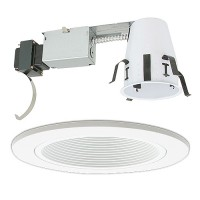 "4"" Low voltage recessed remodel white trim kit"