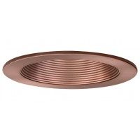 "4"" Recessed lighting air tight bronze baffle bronze trim"