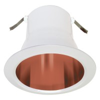 "4"" Recessed lighting air tight copper specular reflector white trim"