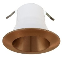 "4"" Recessed lighting air tight copper specular reflector copper trim"