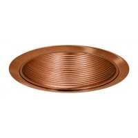 "6"" Recessed lighting air tight copper stepped baffle trim"