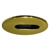"2"" Recessed lighting polished brass adjustable slot trim"