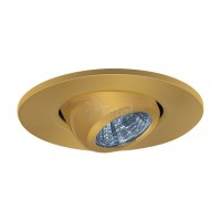 "2"" Recessed lighting adjustable MR11 polished brass eyeball trim"