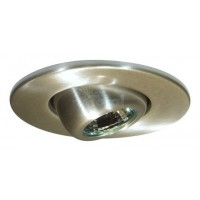 "2"" Recessed lighting adjustable MR11 satin eyeball trim"