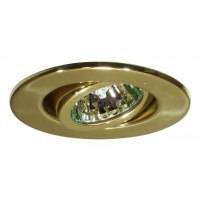 "2"" Recessed lighting adjustable 35 degree tilt polished brass gimbal ring trim"