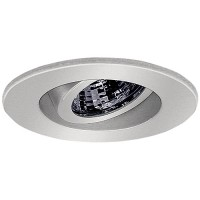 "2"" Recessed lighting adjustable 35 degree tilt chrome regressed gimbal ring trim"