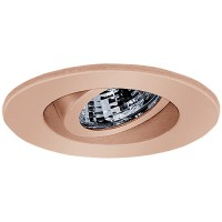 "2"" Recessed lighting adjustable 35 degree tilt copper regressed gimbal ring trim"