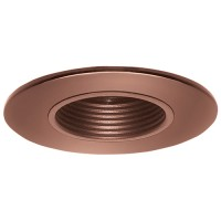 "2"" Recessed lighting adjustable 35 degree tilt bronze stepped baffle trim"