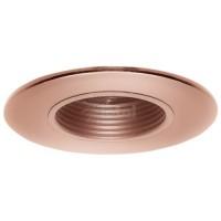 """2"""" Recessed lighting adjustable 35 degree tilt copper stepped baffle trim"""