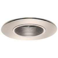 "2"" Recessed lighting satin stepped baffle bronze shower trim"