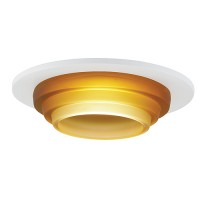 "3"" Low voltage recessed lighting amber glass white metropolitan step lite trim"