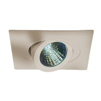 "3"" Low voltage recessed lighting 35° tilt 359° rotation fully adjustable satin square eyeball trim"