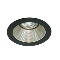 "4"" Low voltage recessed lighting satin baffle black trim"