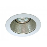 "4"" Low voltage recessed lighting satin baffle white trim"