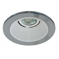 "4"" Low voltage recessed lighting white baffle chrome trim"