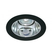 "4"" Low voltage recessed lighting chrome reflector black trim"