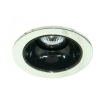 "4"" Low voltage recessed lighting black reflector polished brass trim"