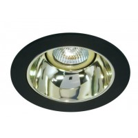 "4"" Low voltage recessed lighting gold reflector black trim"