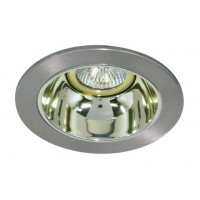 "4"" Low voltage recessed lighting gold reflector chrome trim"