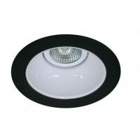 "4"" Low voltage recessed lighting white reflector black trim"