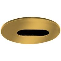 """4"""" Low voltage recessed lighting adjustable polished brass slot trim"""