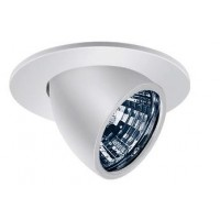 "4"" Low voltage recessed lighting white fully adjustable eyeball trim"