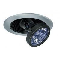 "4"" Low voltage recessed lighting adjustable black pull down satin trim"