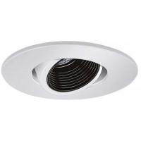 "4"" Low voltage recessed lighting adjustable black baffle white pinhole trim"