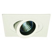 "4"" Low voltage recessed lighting 35 degree tilt fully adjustable black baffle white square eyeball trim"