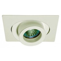 "4"" Low voltage recessed lighting 40 degree tilt adjustable spot white square trim"