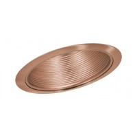 "6"" Slope recessed lighting sloped stepped copper baffle copper trim"