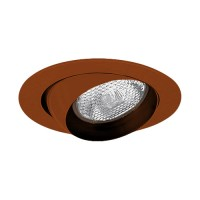 "4"" Recessed lighting bronze eyeball trim for R/Par 20 lamp"