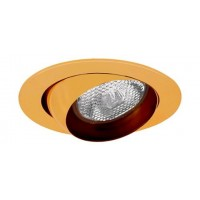 "4"" Recessed lighting polished brass eyeball trim for R/Par 20 lamp"