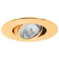 "4"" Recessed lighting Par 20 polished brass gimbal ring trim"