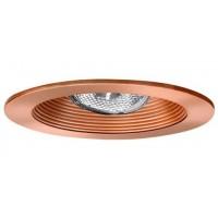 """4"""" Recessed lighting adjustable socket bracket copper stepped baffle copper trim"""