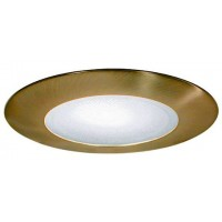 """5"""" Recessed compact fluorescent (CFL) shower trim with albalite lens satin"""