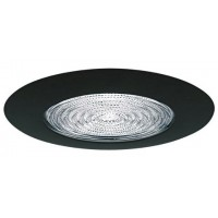 "5"" Recessed compact fluorescent (CFL) shower trim with fresnel lens black"