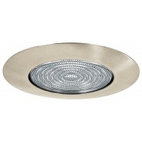 "5"" Recessed lighting shower trim with fresnel lens satin nickel"