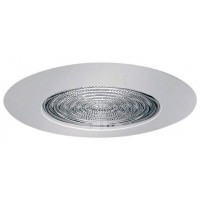 "5"" Recessed compact fluorescent (CFL) shower trim with fresnel lens white"