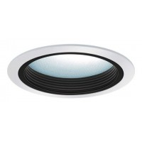 "5"" Recessed lighting baffle with albalite lens trim black/white"