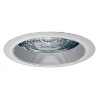 "5"" Recessed lighting fresnel lens white baffle white shower trim"
