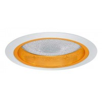 "5"" Recessed lighting reflector with albalite lens trim gold/white"