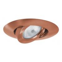 "5"" Recessed lighting copper adjustable gimbal trim"