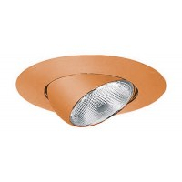 "6"" Recessed lighting copper eyeball trim"