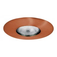 "6"" Recessed lighting Par 30 socket holder copper open trim"